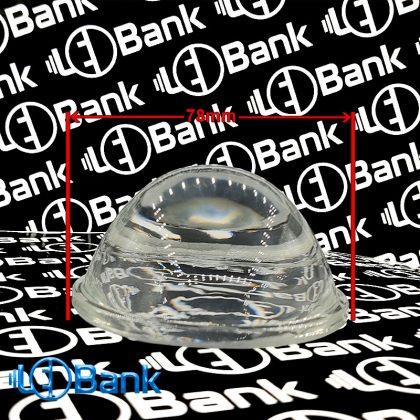 لنز ال ای دی محدب شیشه ای قطر 78 میلیمتر