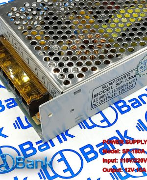 سوئیچینگ فلزی 12 ولت 15 آمپر sun power