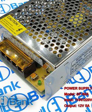 سوئیچینگ فلزی 12 ولت 5 آمپر sun power ولتاژ خروجی: 12 ولت مستقیم