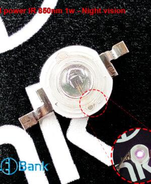 ال ای دی 850 نانومتر ir دید در شب خروجی لومن 100 میکرو وات