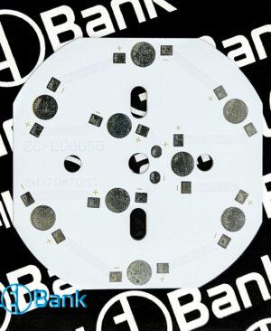 pcb led 9w قطر 70 میلیمتر آلومینیوم دوپین تک رنگ